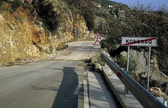 Dhërmi Straße Saranda - Vlora
