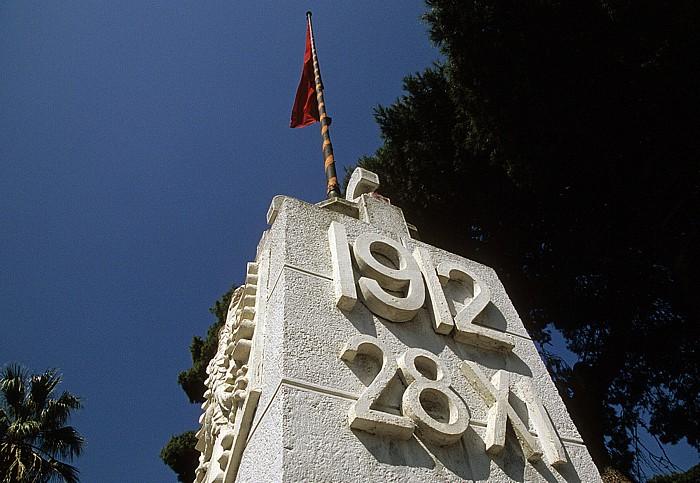 Vlora Denkmal zum Tag der Unabhängigkeit Albaniens am 28.11.1912