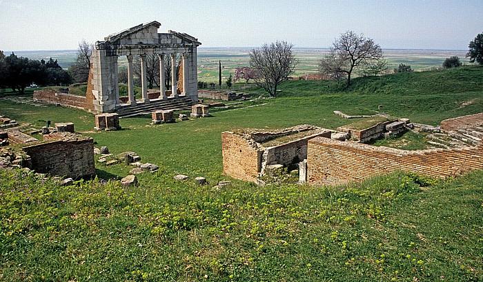 Apollonia Tempelruine (Monument des Agonothetes) und Odeon