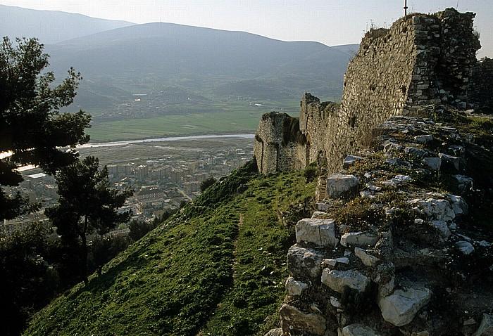 Berat Blick von der Burg (Kalaja): Osum-Tal