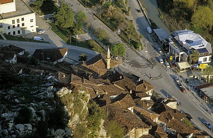 Berat Blick von der Burg (Kalaja): Mangalem, Osum-Tal