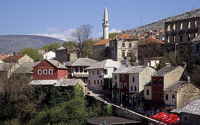 Mostar Blick von der Alten Brücke (Stari most) Alte Brücke