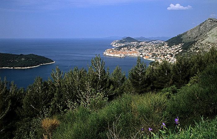 Adriatisches Meer (Mittelmeer), Altstadt von Dubrovnik, Dalmatinische Küste Dubrovnik