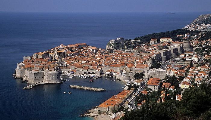 Altstadt von Dubrovnik, Dalmatinische Küste, Adriatisches Meer (Mittelmeer) Dubrovnik
