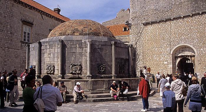 Altstadt (Grad): Großer Onofriobrunnen (Velika Onofrijeva česma) Dubrovnik