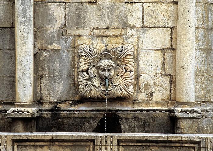 Altstadt (Grad): Wasserspeier des Großen Onofriobrunnen (Velika Onofrijeva česma) Dubrovnik