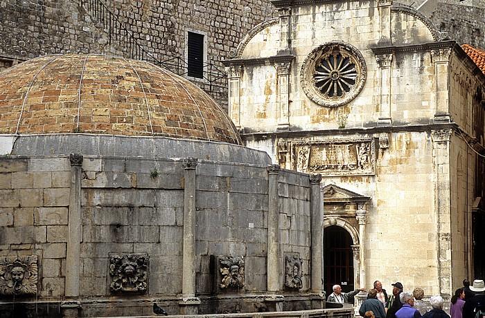 Altstadt (Grad): Großer Onofriobrunnen (Velika Onofrijeva česma), Erlöserkapelle (Crkva sv. Spasa) Dubrovnik