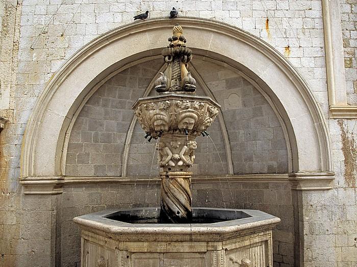 Altstadt (Grad): Luža-Platz mit dem Kleinen Onofriobrunnen Dubrovnik