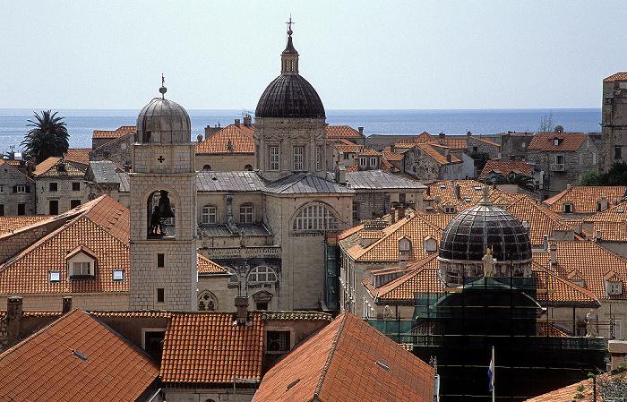 Altstadt: Blick von der Stadtmauer Dubrovnik