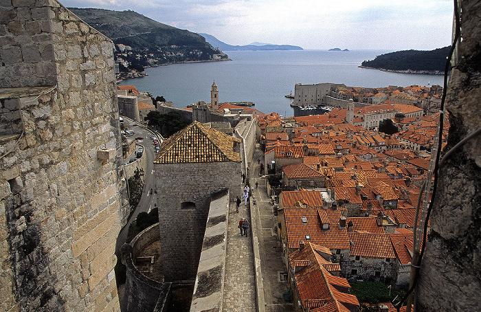 Altstadt: Blick von der Stadtmauer (Festung Minceta) Dubrovnik
