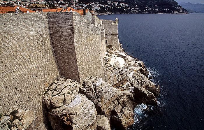Dubrovnik Altstadt: Stadtmauer, Adria
