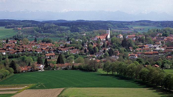 Ebersberger Forst Blick vom Aussichtsturm: Ebersberg
