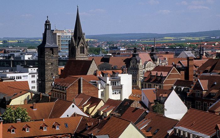 Erfurt Blick von der Ägidienkirche: Kaufmannskirche