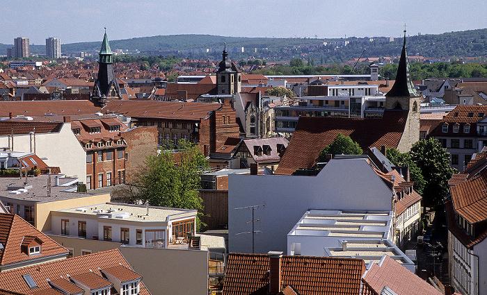 Erfurt Blick von der Ägidienkirche Hauptpostamt Lorenzkirche Reglerkirche