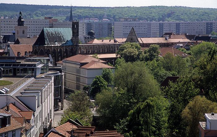 Erfurt Blick von der Ägidienkirche: Barfüßerkirche Wigbertikirche
