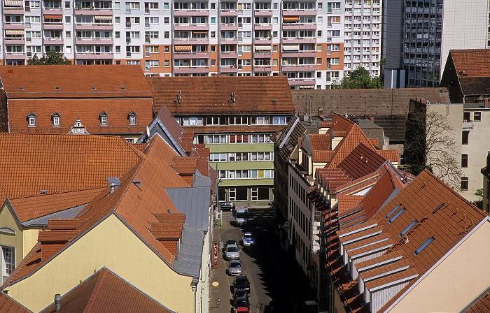 Erfurt Blick von der Ägidienkirche: Futterstraße