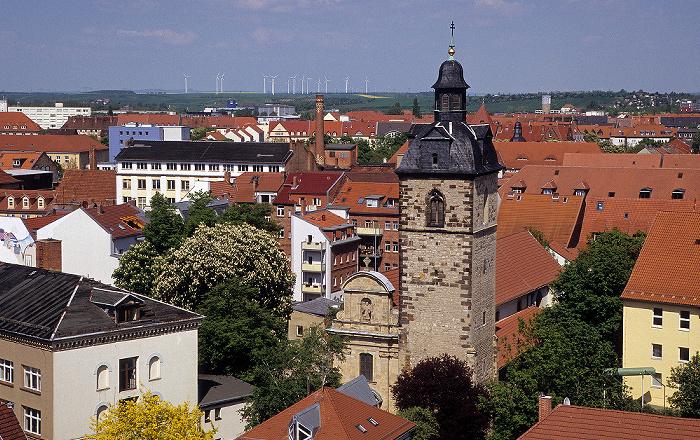 Erfurt Blick von der Ägidienkirche: Schottenkirche St. Nicolai und St. Jacobi