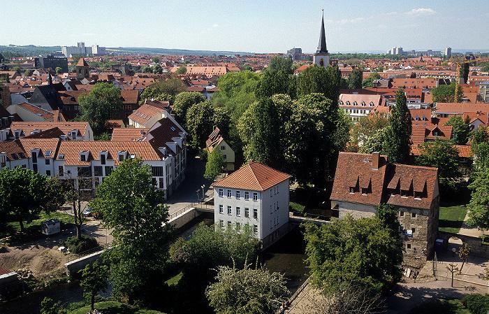 Erfurt Blick von der Ägidienkirche Breitstrom Nikolaiturm