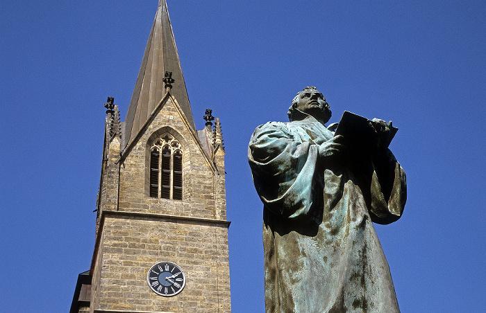 Erfurt Turm der Kaufmannskirche, Lutherdenkmal
