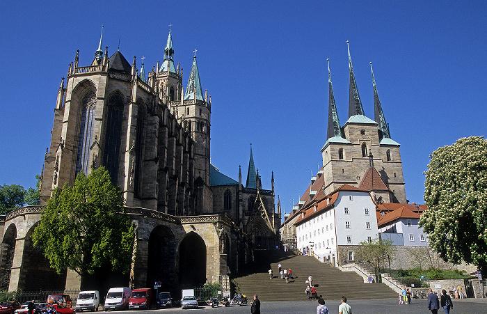 Erfurt Dom und Severikirche (rechts)