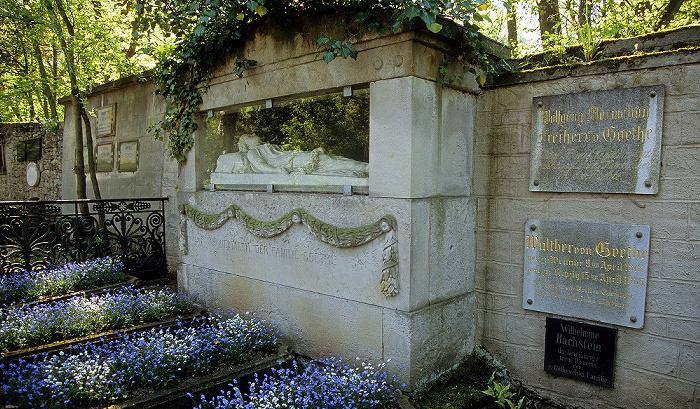Weimar Historischer Friedhof: Ruhestätte der Familie von Goethe