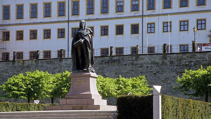 Gotha Denkmal Herzog Ernst der Fromme Schloss Friedenstein