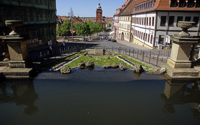 Gotha Wasserkunst Hauptmarkt Rathaus