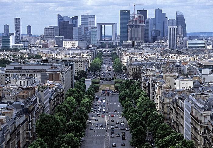 Blick vom Arc de Triomphe Paris 2008