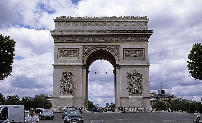 Paris Place Charles-de-Gaulle (Place de l'Étoile): Arc de Triomphe