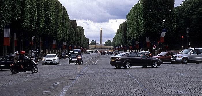 Avenue des Champs-Élysées, Place de la Concorde (Obelisk) Paris 2008