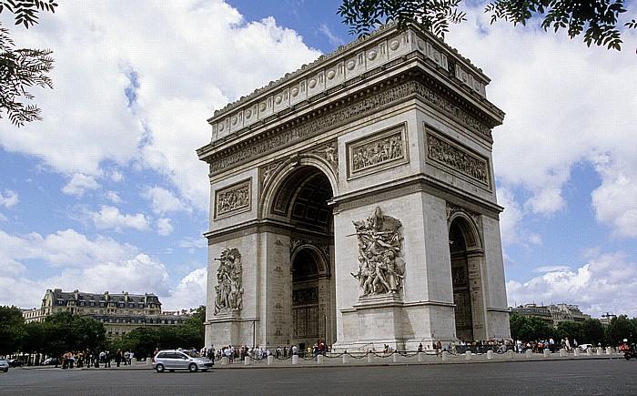 Place Charles-de-Gaulle (Place de l'Étoile): Arc de Triomphe Paris 2008