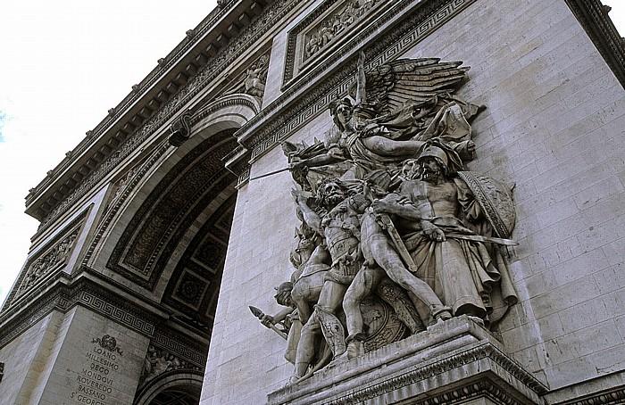 Paris Arc de Triomphe: Relief Der Aufbruch der Freiwilligen oder Die Marseillaise