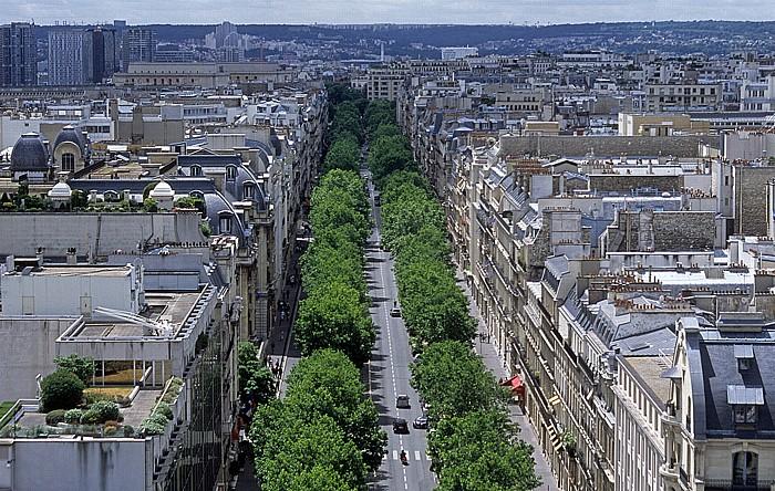 Paris Blick vom Arc de Triomphe