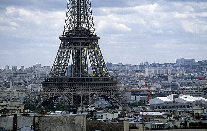 Paris Blick vom Arc de Triomphe: Tour Eiffel (Eiffelturm)