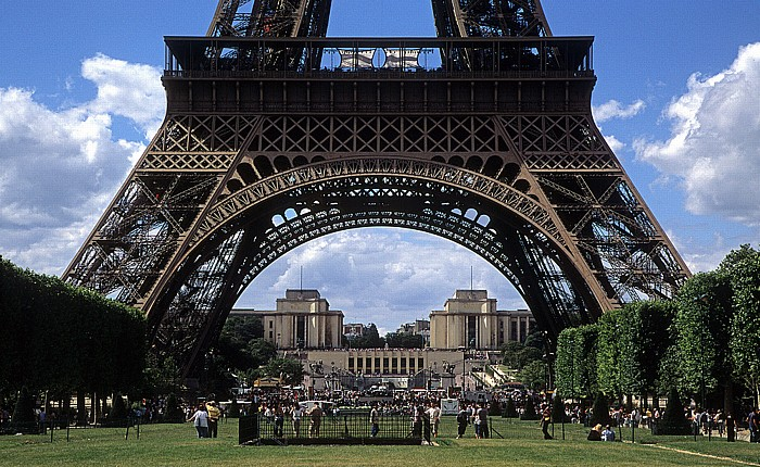 Champ-de-Mars (Marsfeld), Tour Eiffel (Eiffelturm), Palais de Chaillot Paris 2008