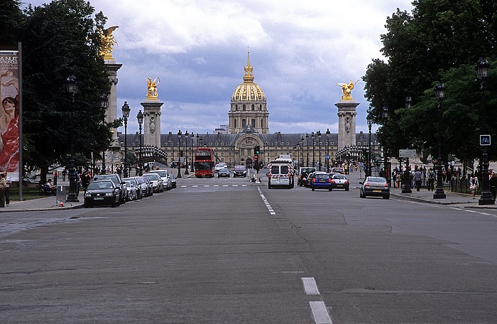 Pont Alexandre lll, Hôtel des Invalides, Dôme des Invalides (Invalidendom) Paris 2008