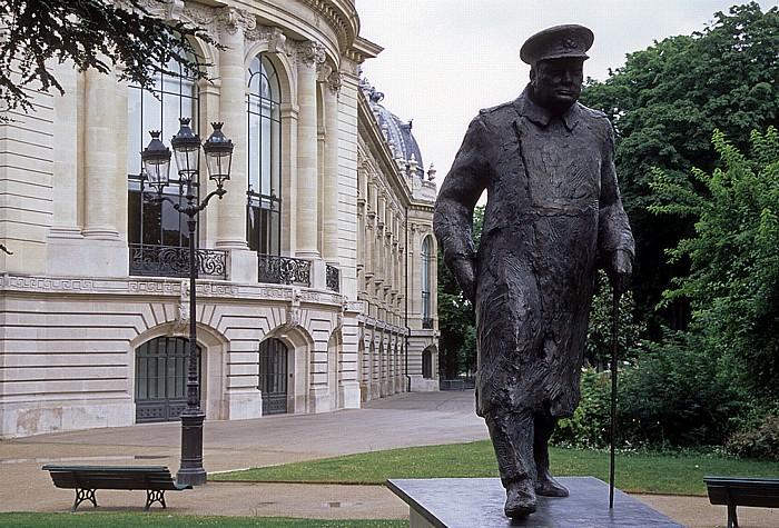 Paris Statue von Winston Churchill Petit Palais