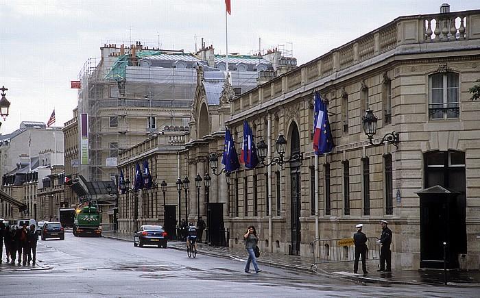Rue du Faubourg-Saint-Honoré, Palais de l'Élysée (Élysée-Palast) Paris 2008