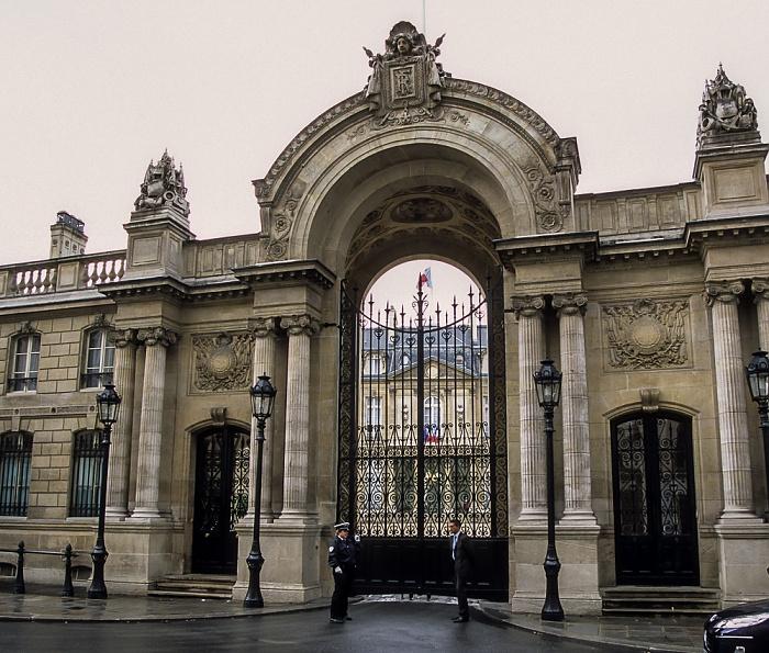 Palais de l'Élysée (Élysée-Palast): Hauptportal Paris 2008