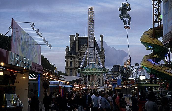 Paris Jardin des Tuileries: Vergnügungspark mit Riesenrad Musée du Louvre