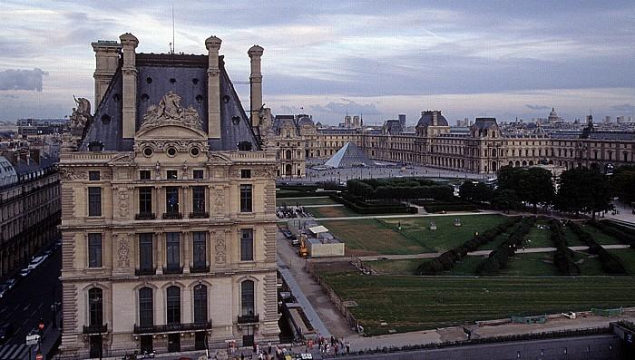 Paris Blick vom Riesenrad (Jardin des Tuileries): Musée du Louvre Notre-Dame de Paris Panthéon