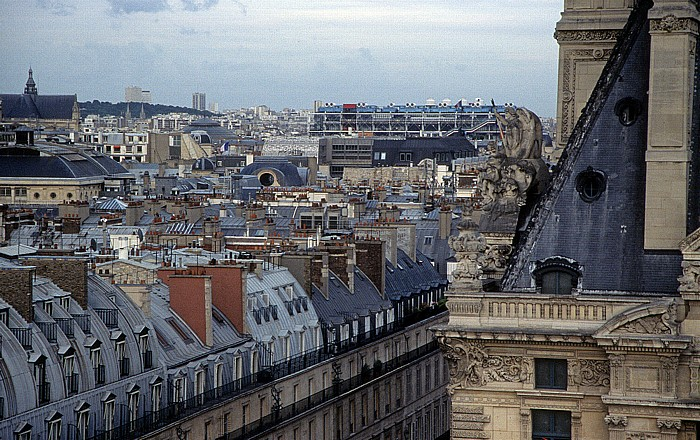 Paris Blick vom Riesenrad (Jardin des Tuileries) Centre Pompidou Musée du Louvre