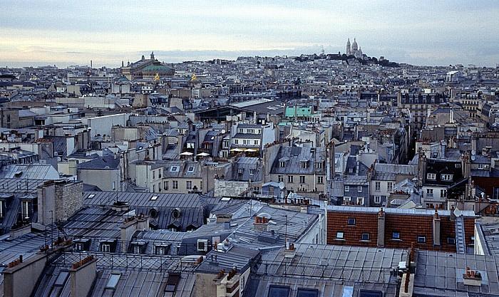 Paris Blick vom Riesenrad (Jardin des Tuileries) Basilique du Sacré-Coeur Montmartre Opéra Garnier