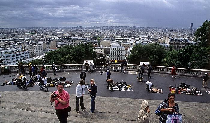 Square Louise-Michel - Blick von Montmartre Paris 2008