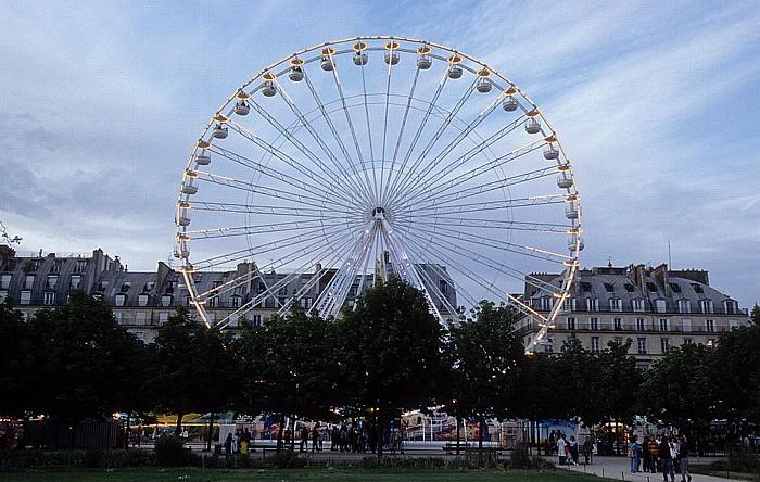 Paris Jardin des Tuileries: Vergüngungspark mit Riesenrad