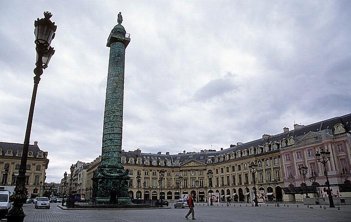 Paris Place Vendôme mit der Säule Zum Ruhme der Armee