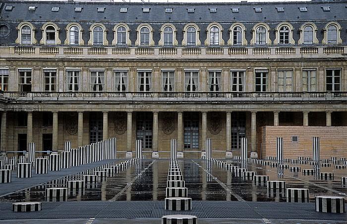Paris Palais Royal: Ehrenhof (Säulen von Daniel Buren)
