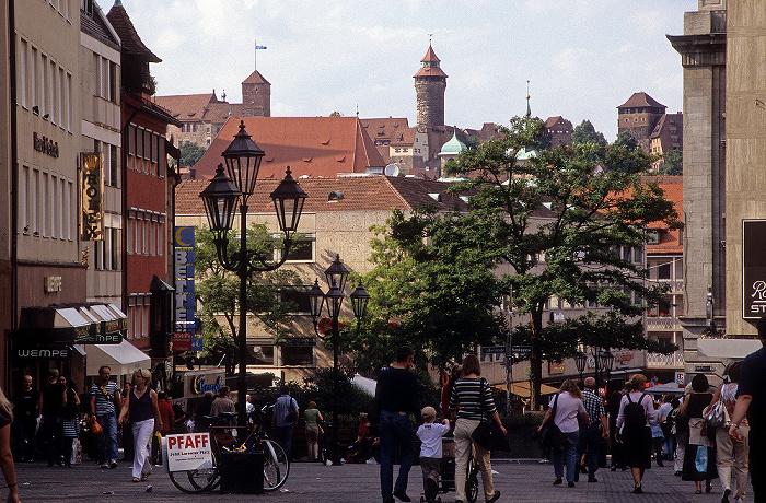 Nürnberg Königstraße Burg Sinnwellturm