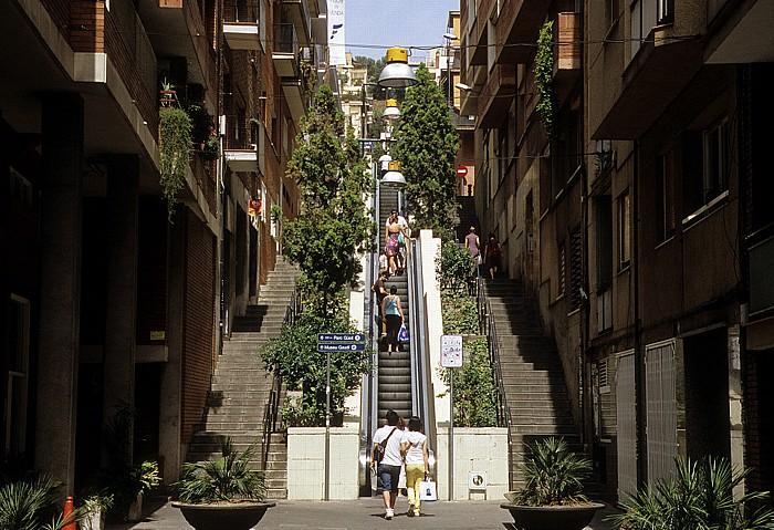 Rolltreppe zum Parc Güell Barcelona 2008