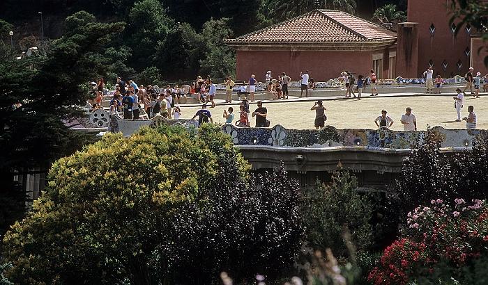 Parc Güell: Terrasse mit Schlangenbank Barcelona